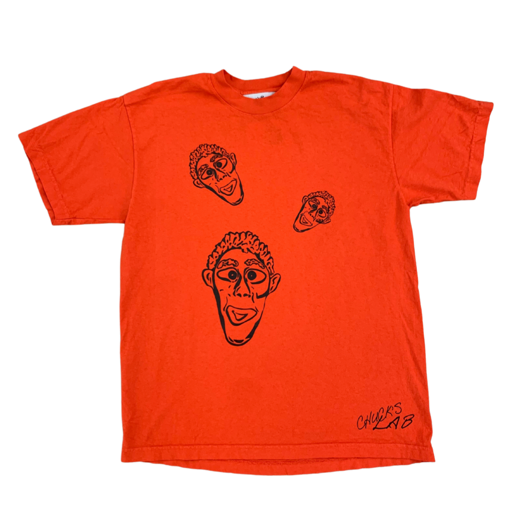 Orange Tee with Clay Faces