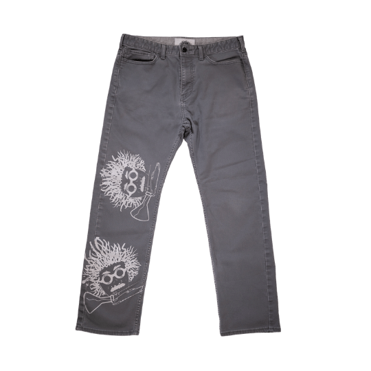 Grey Scientist Pants - CHUCK CYCLE - Size 33 x 30
