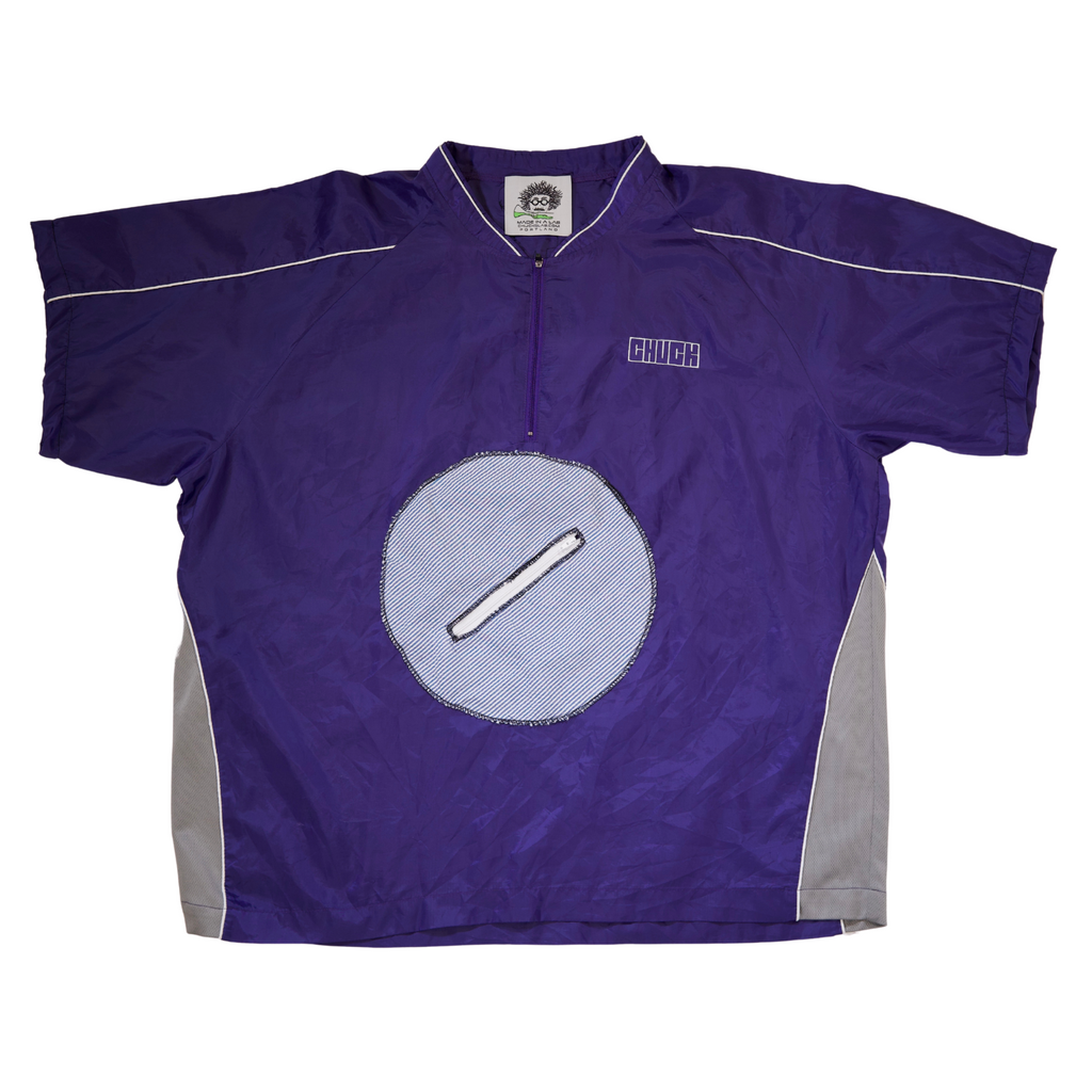 Purple Nylon Tee - CHUCK CYCLE - Size XXL