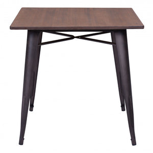 Titus Dining Table Rustic Black & Brown