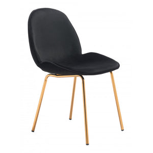Siena Dining Chair Black & Gold