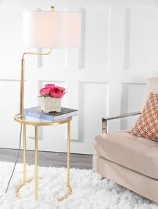 Crispin Floor Lamp/Side Table