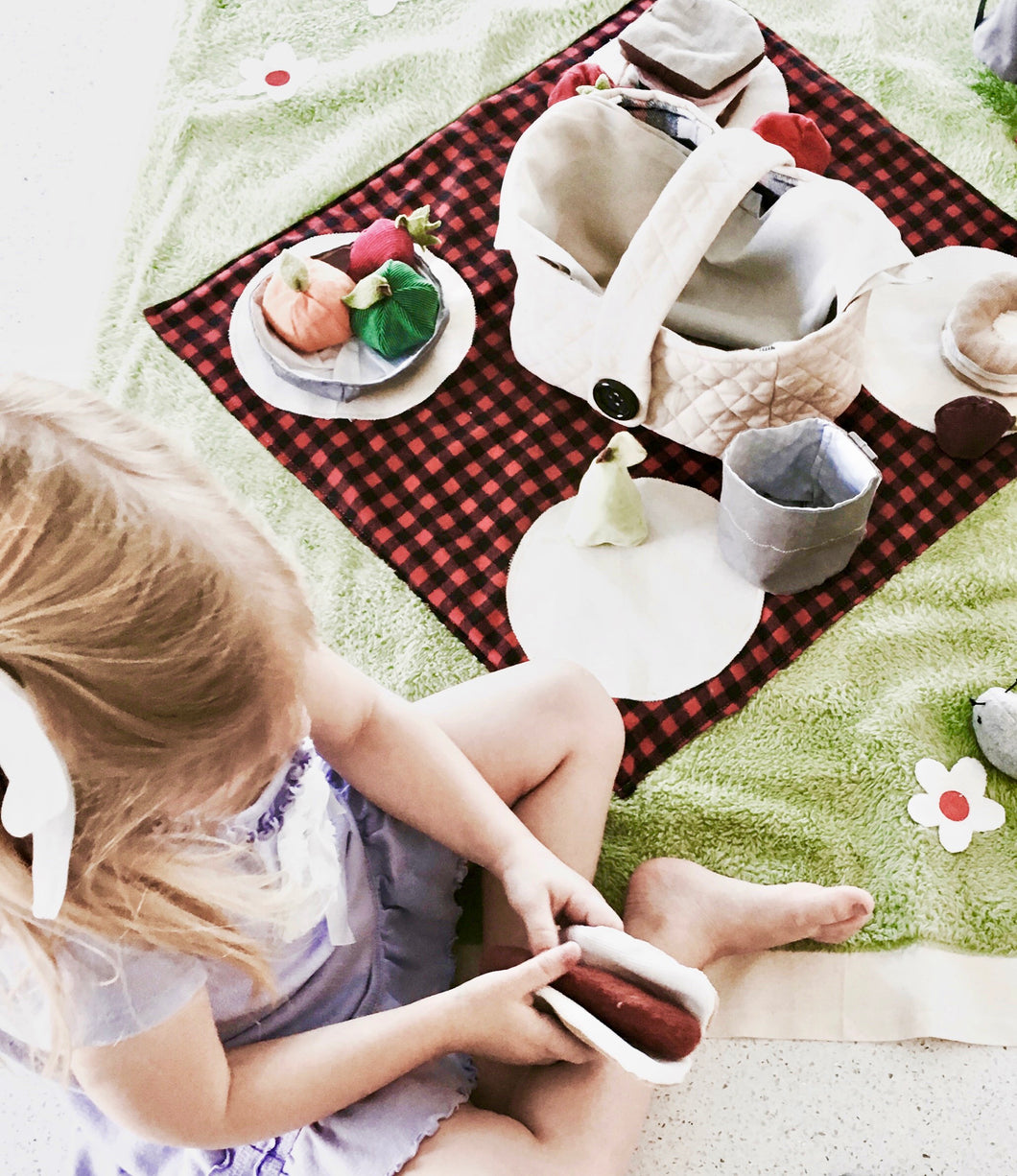 Picnic Blanket with Play Food