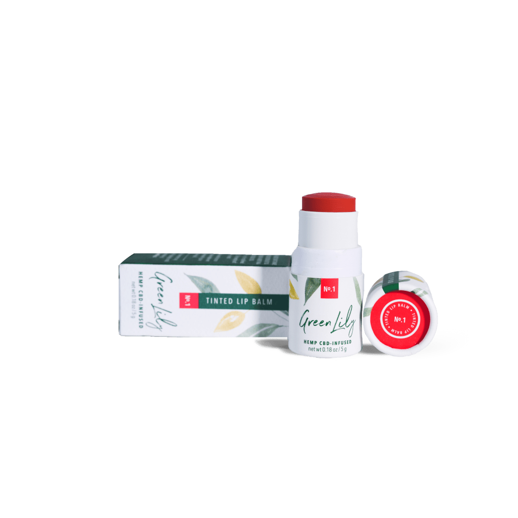 Green Lily Tinted Lip Balm No.1 Red