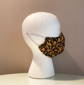 Mini Flames Fire Print Face Mask