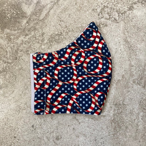 Stars and Stripes American Flag Ribbon Print Face Mask