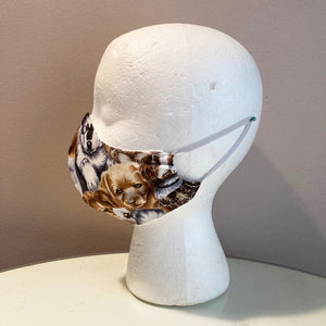 Vintage Puppy Dog Print Face Mask