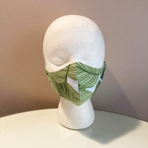 Tropical Leaf Print Face Mask