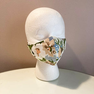 1960s Vintage Abstract Floral Face Mask