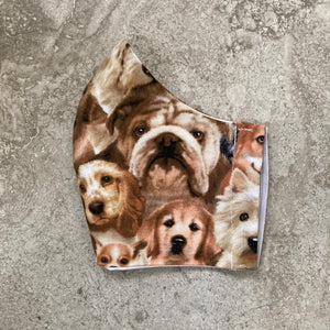 Small Dog Print Face Mask