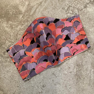 Purple Orange Pink Abstract Print Face Mask