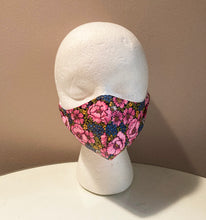 Load image into Gallery viewer, 1960s Vintage Bright Pink Floral Face Mask