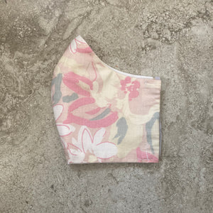 1980s Vintage Abstract Floral Print Face Mask