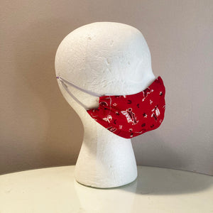 Vintage Wild West Red Cowboy Face Mask