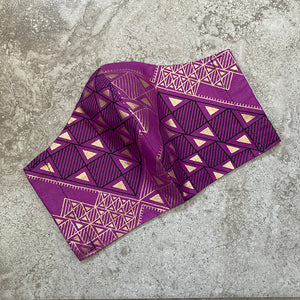 Purple Tribal Black & Gold Geometric Face Mask