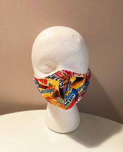 Crazy Candy Print Face Mask