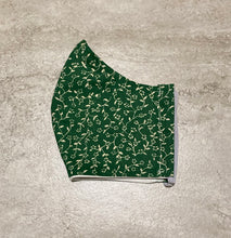 Load image into Gallery viewer, 1930s Vintage Green Mini Floral Print Face Mask