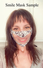 Load image into Gallery viewer, Grey and Gold Glitter Marble Print Face Mask