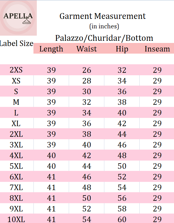 10XL, 2XL, 3XL, 4XL, 5XL, 6XL, 7XL, 8XL, 9XL, double pockets, Fully Elasticized, Rayon, Regular Fit, TIE-UP PALAZZO