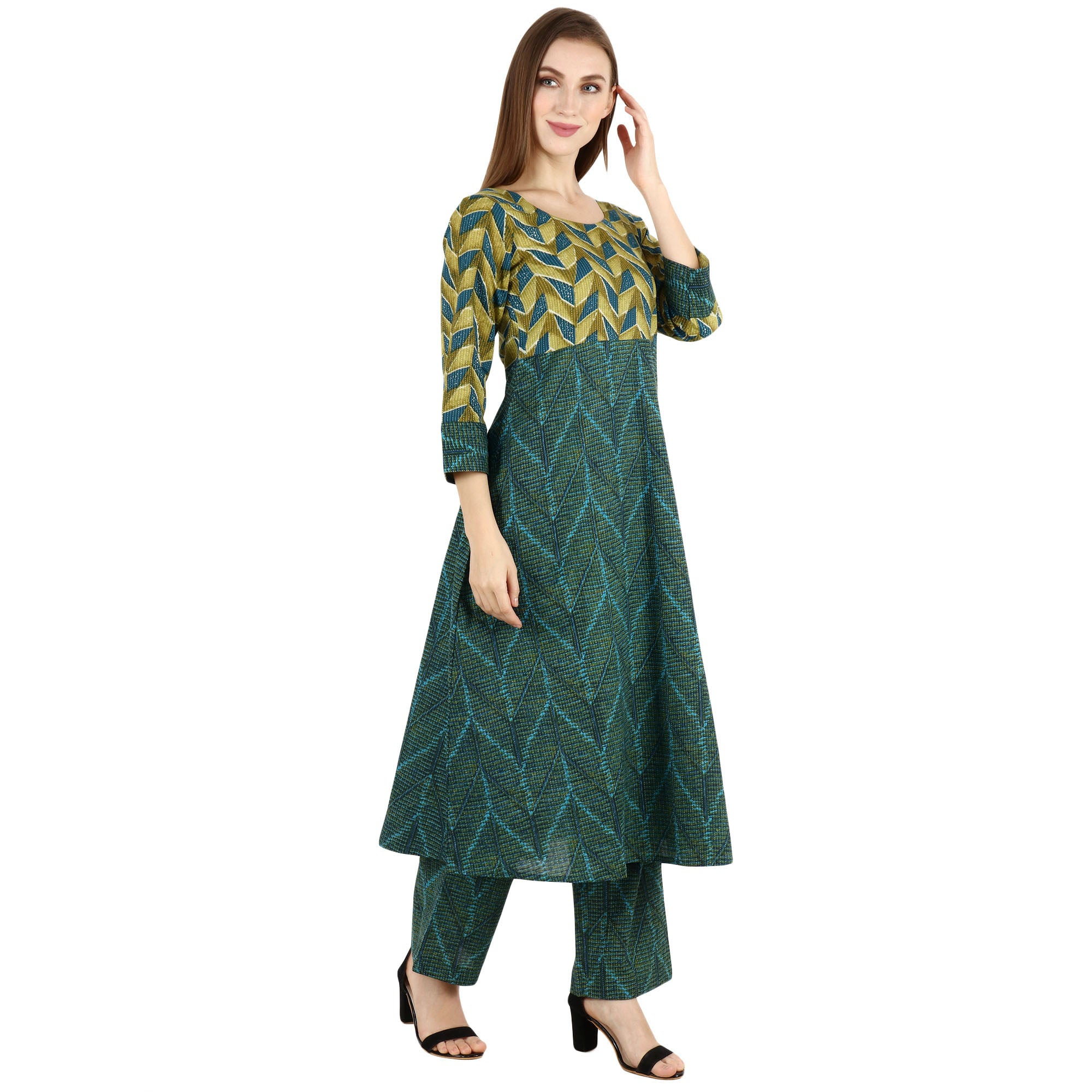 3/4 QUARTER SLEEVES, all size, all sizes, apella, best online store, COTTON, EMBROIDERY, KURTA SET, kurta suits, palazzo suits, plus size, pluz size, rayon, reasonable price, shop online, ski