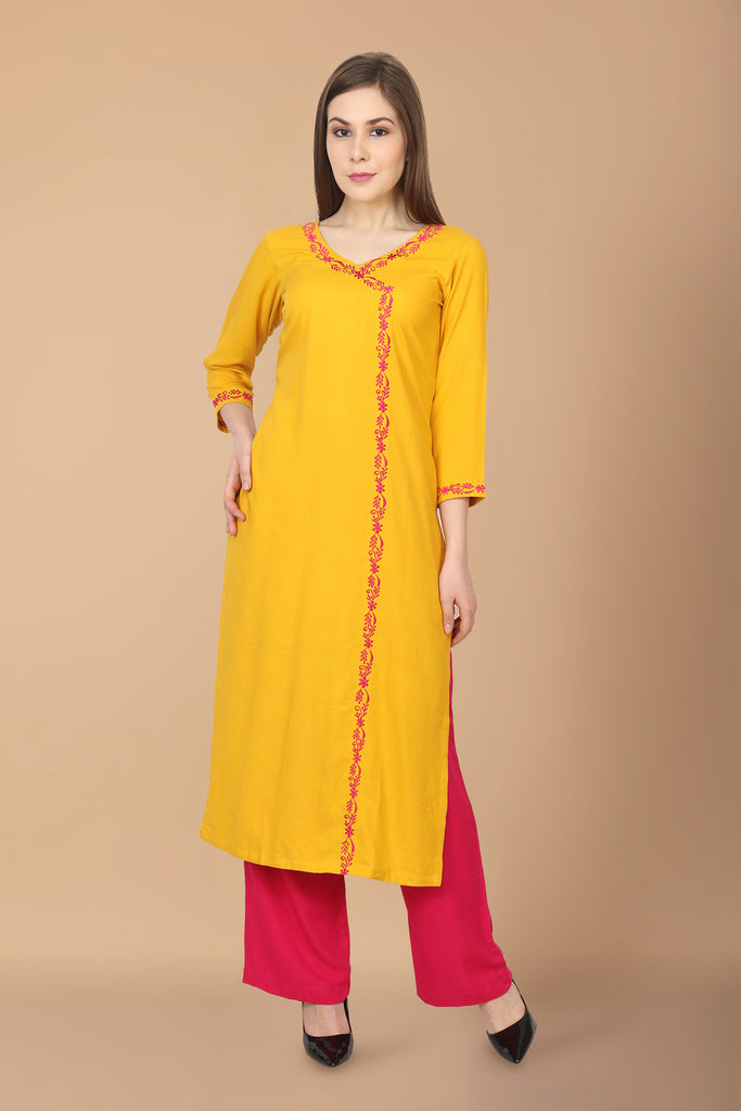 ANGRAKHA, apella, cotton, EMBROIDERY, kurta online, kurtas online, kurtis online, plus size. all sizes, RAYON, reasonale price, V NECK