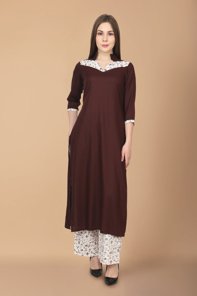 3/4 QUARTER SLEEVES, apella, COFFEE, cotton, kurta online, kurtas online, kurtis online, MANDARIAN, plus size. all sizes, RAYON, reasonale price