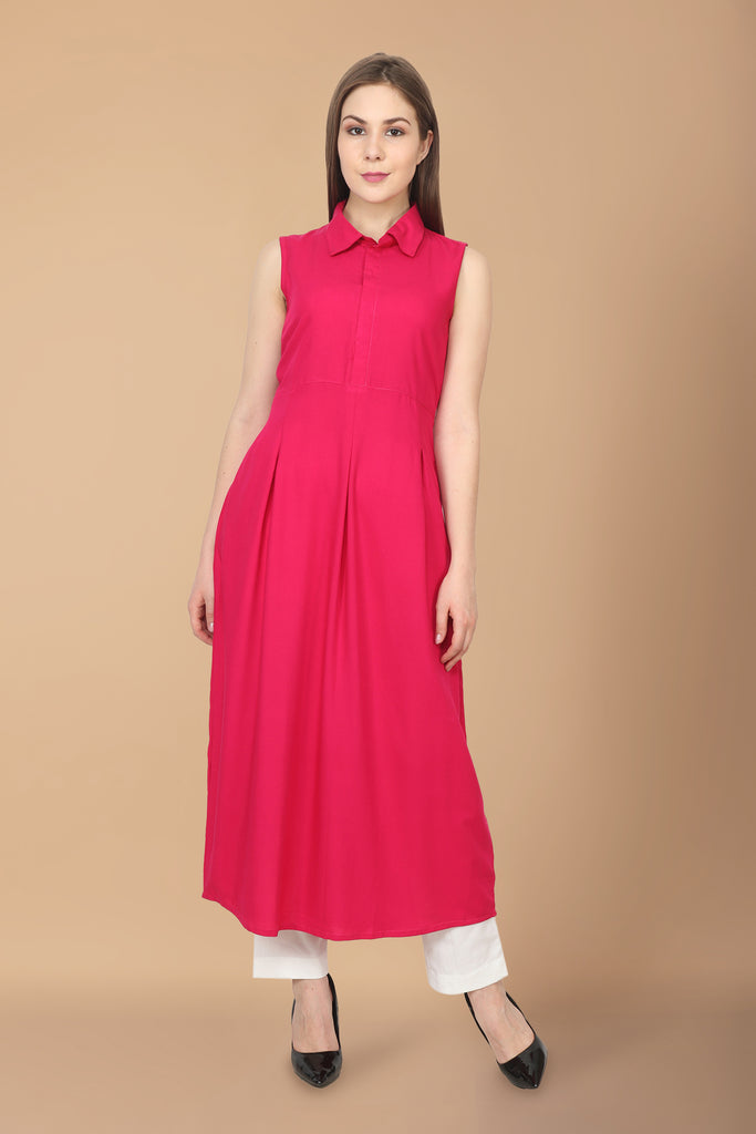 A-LINE, apella, cotton, EMBROIDERY, kurta online, kurtas online, kurtis online, MAGENTA, plus size. all sizes, RAYON, reasonale price, SLEEVELESS