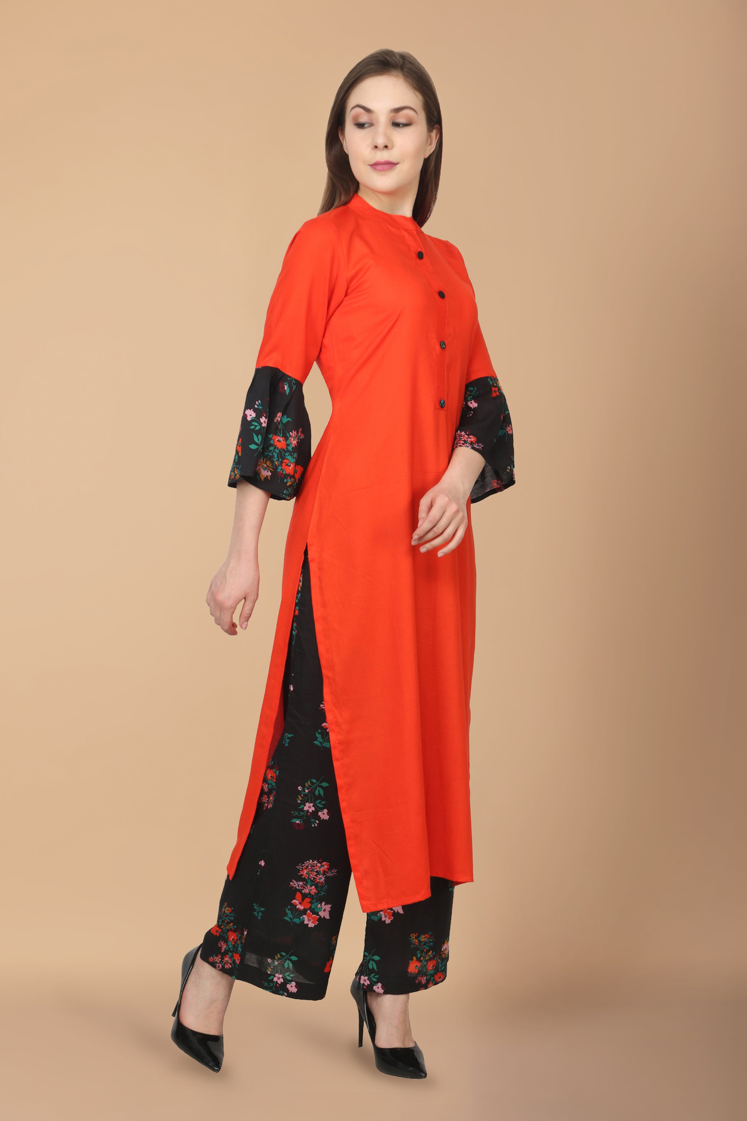 all size, all sizes, apella, best online store, BLACK, cotton, kurta suits, MANDARIAN, MOCK BUTTONS, ORANGE, palazzo suits, plus size, pluz size, rayon, reasonable price, shop online, skin fr