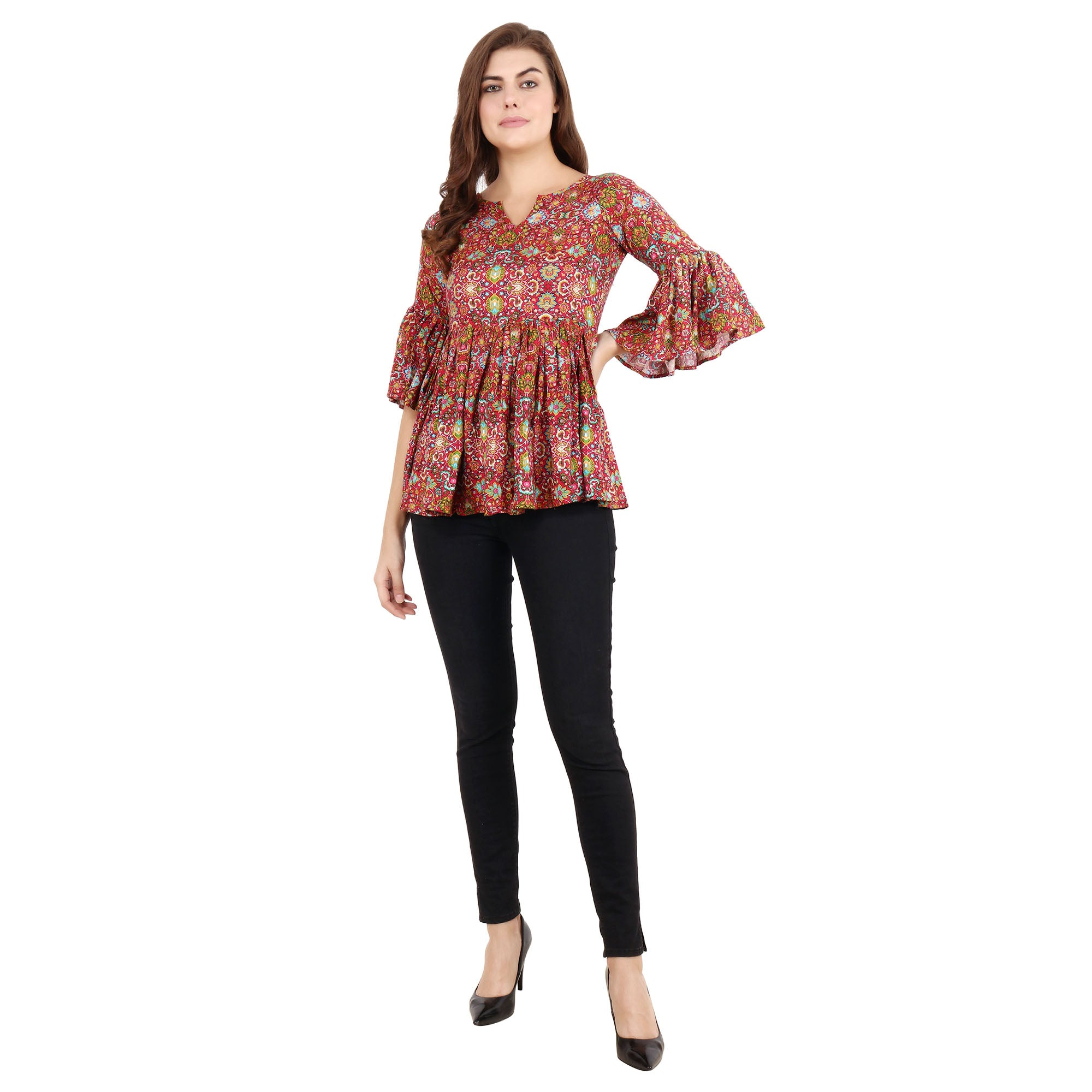 all size, best online store, blue, breathable, brown, casual, comfortable, floral, frill, linen, loose, multicolor, ORANGE, plus size, pluz size, rayon, reasonable price, red, ruffle, skin fr