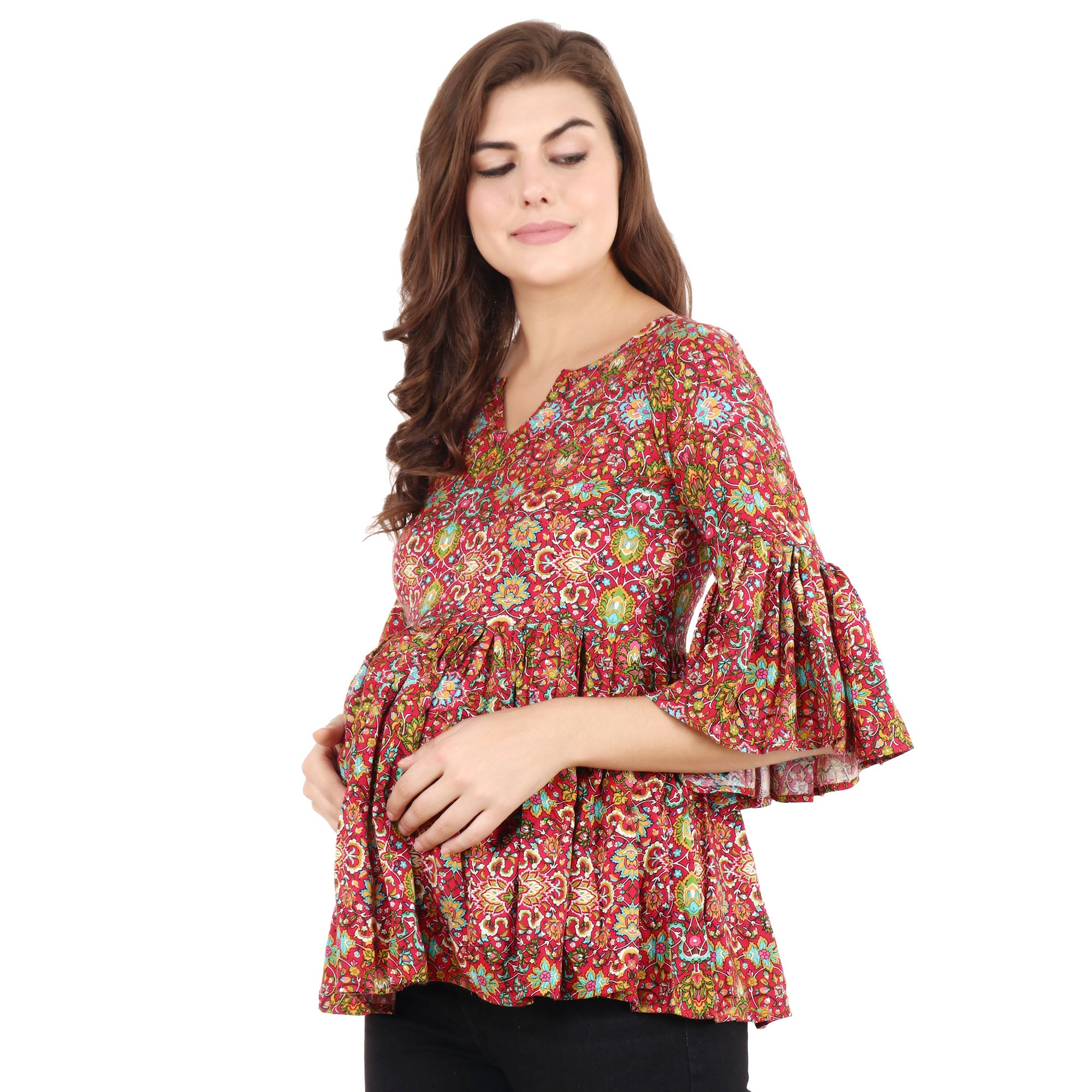 all size, best online store, blue, breathable, brown, casual, comfortable, floral, frill, linen, loose, maternity, multicolor, nursing, ORANGE, plus size, pluz size, pregnancy, rayon, reasona