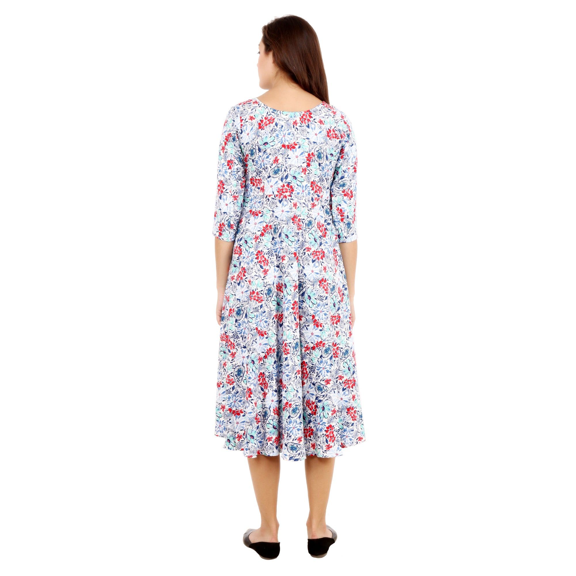 all size, best online store, blue, breathable, calf length, comfortable, dresses, flare, floral, green, knee length, maternity, multi, multicolor, plus size, print, printed, rayon, reasonable