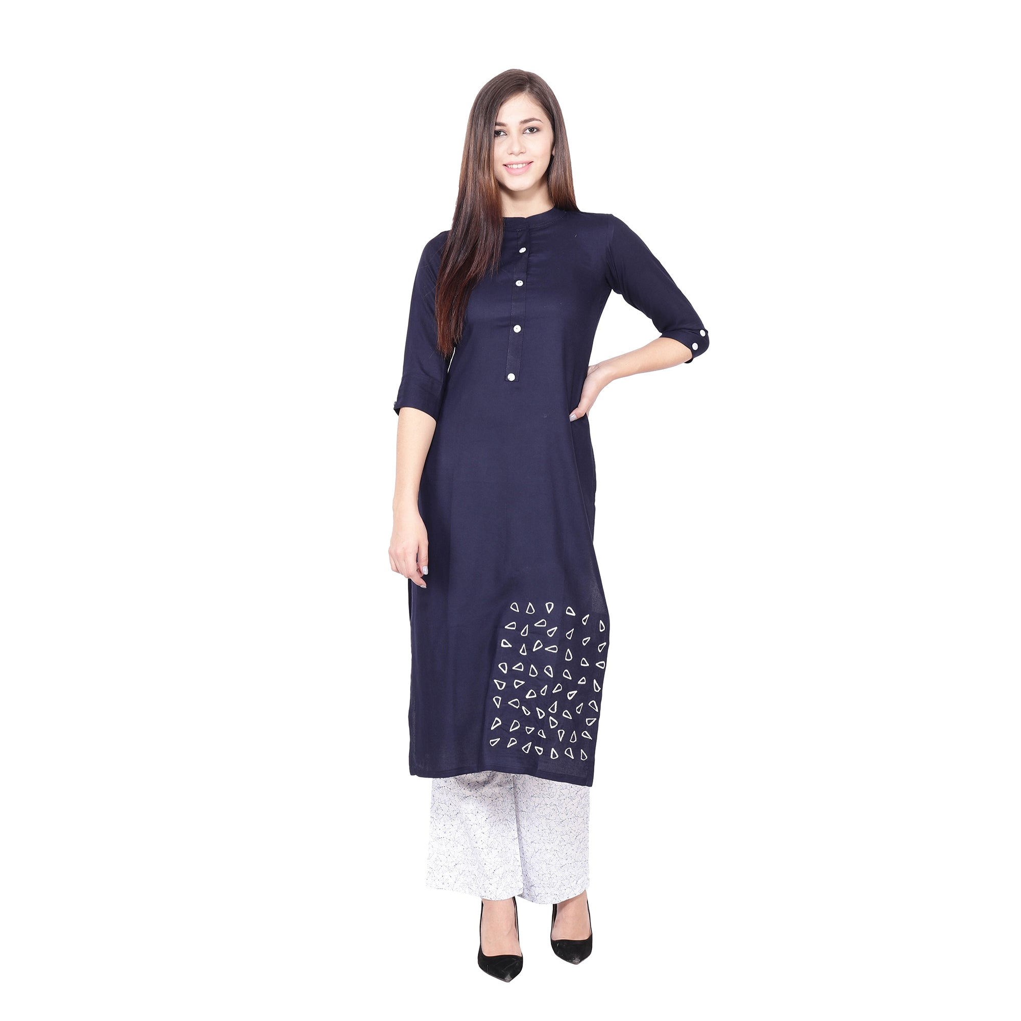 all size, all sizes, apella, best online store, COTTON, kurta suits, NAVY BLUE, palazzo suits, plus size, pluz size, rayon, reasonable price, shop online, skin friendly fabrics, soft cotton,