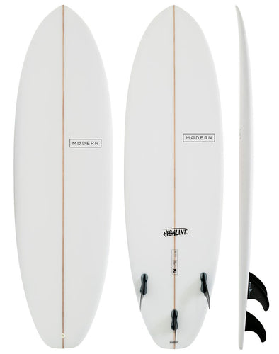 Modern Surfboards Highline  - PU Clear