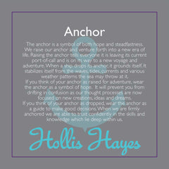 Anchor ~ Navy Blue Jade