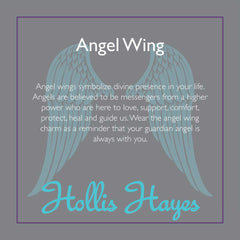 Angel Wing ~ Blue Lace Faceted