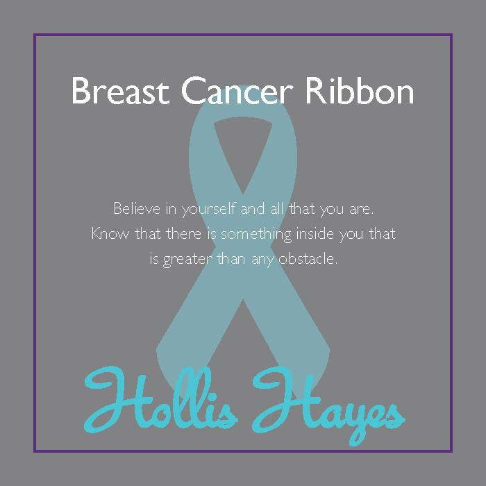 Breast Cancer Ribbon ~ Rose Quartz