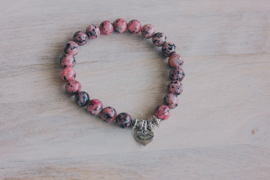 Angel in my heart - Rhodonite