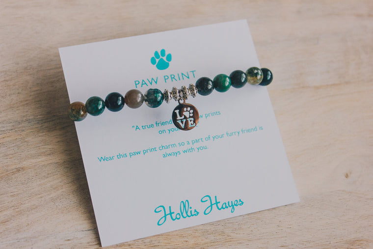 Paw Print Love - Indian Agate