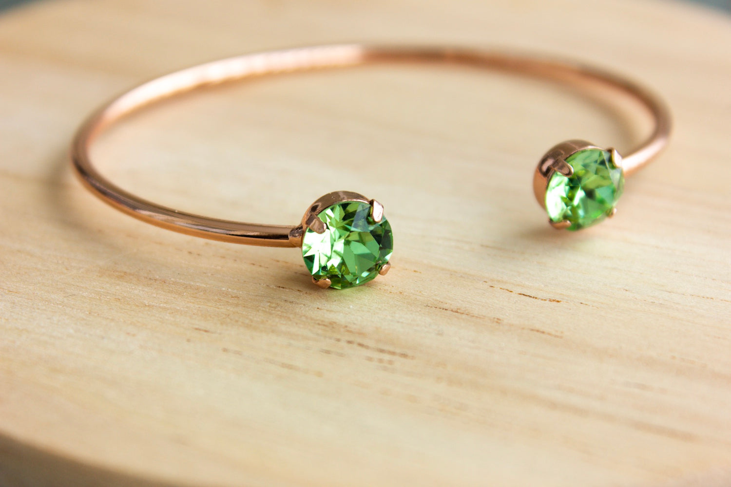 Peridot Swarovski Balance Bangle