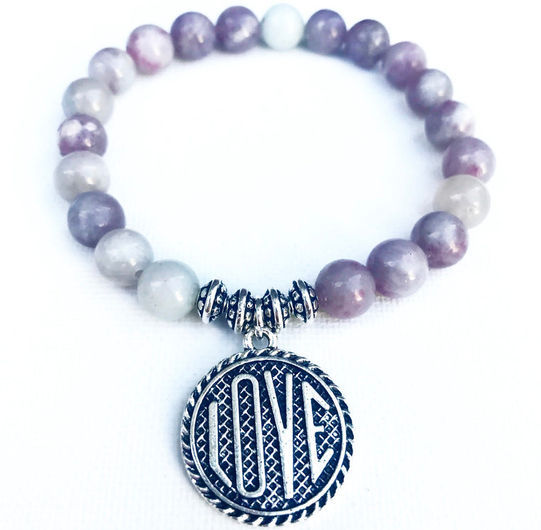 LOVE (limited edition) - lilac jasper