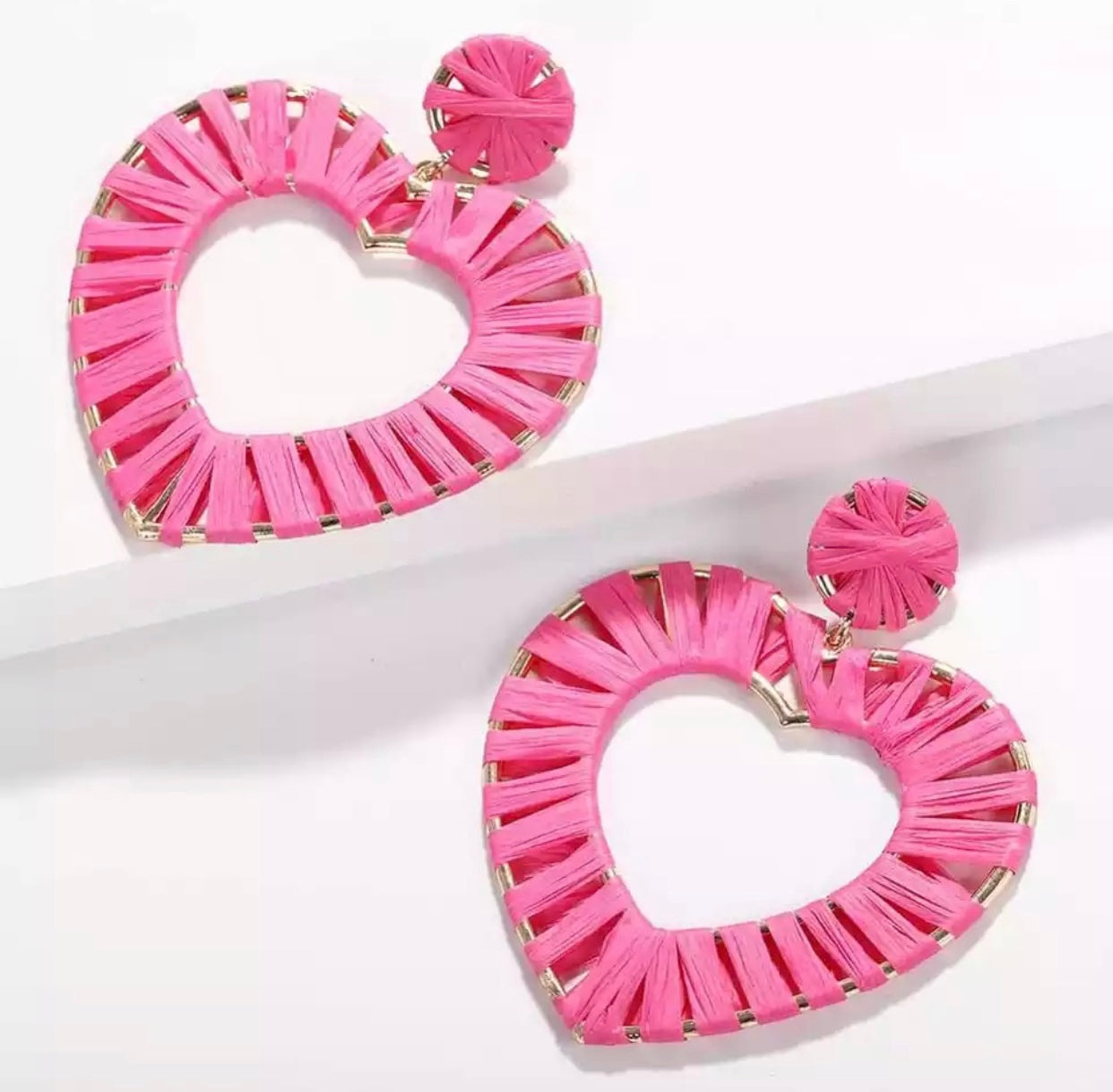 Summer Pink Heart Earrings
