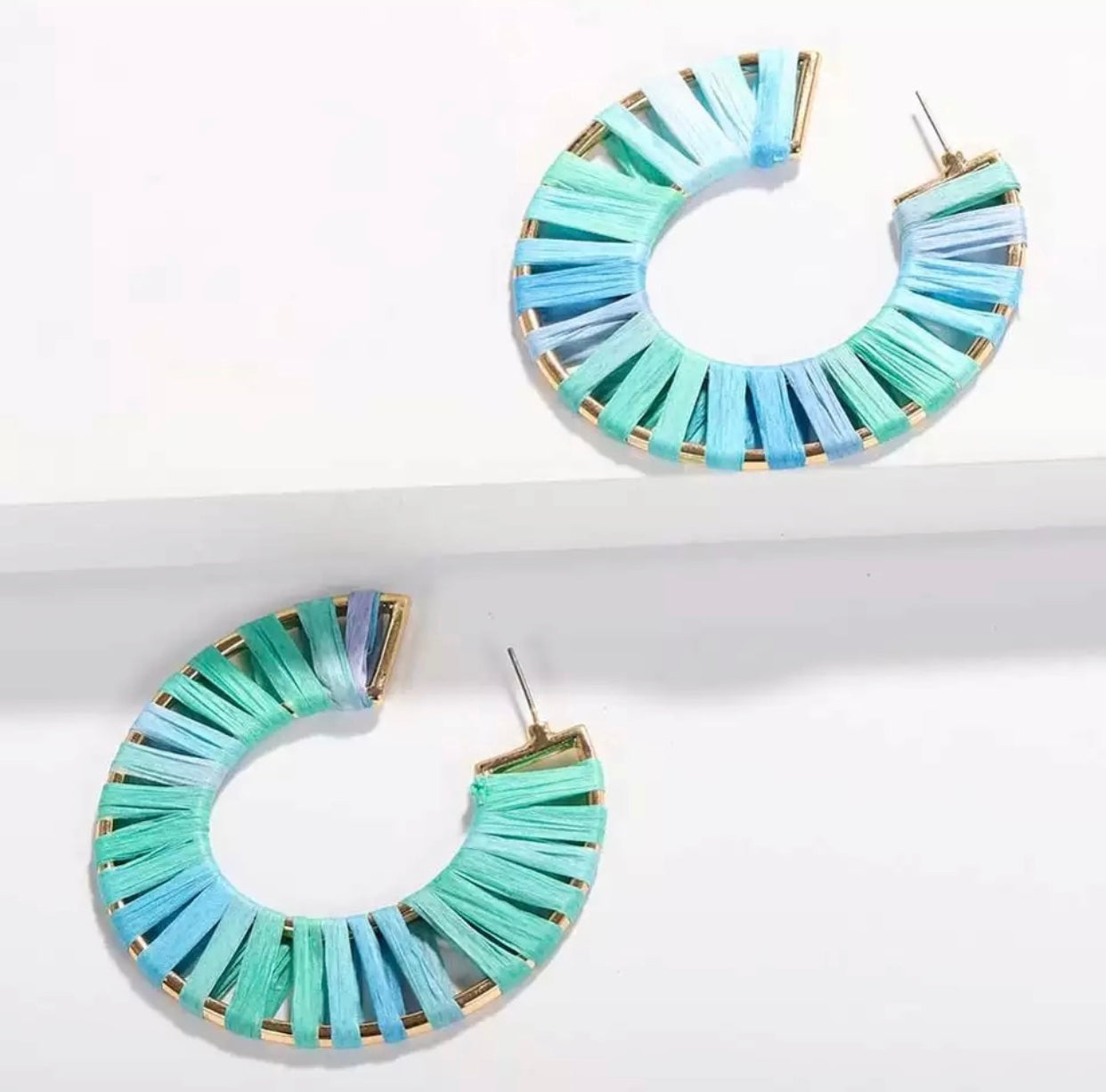Summer Blues Hoop Earrings