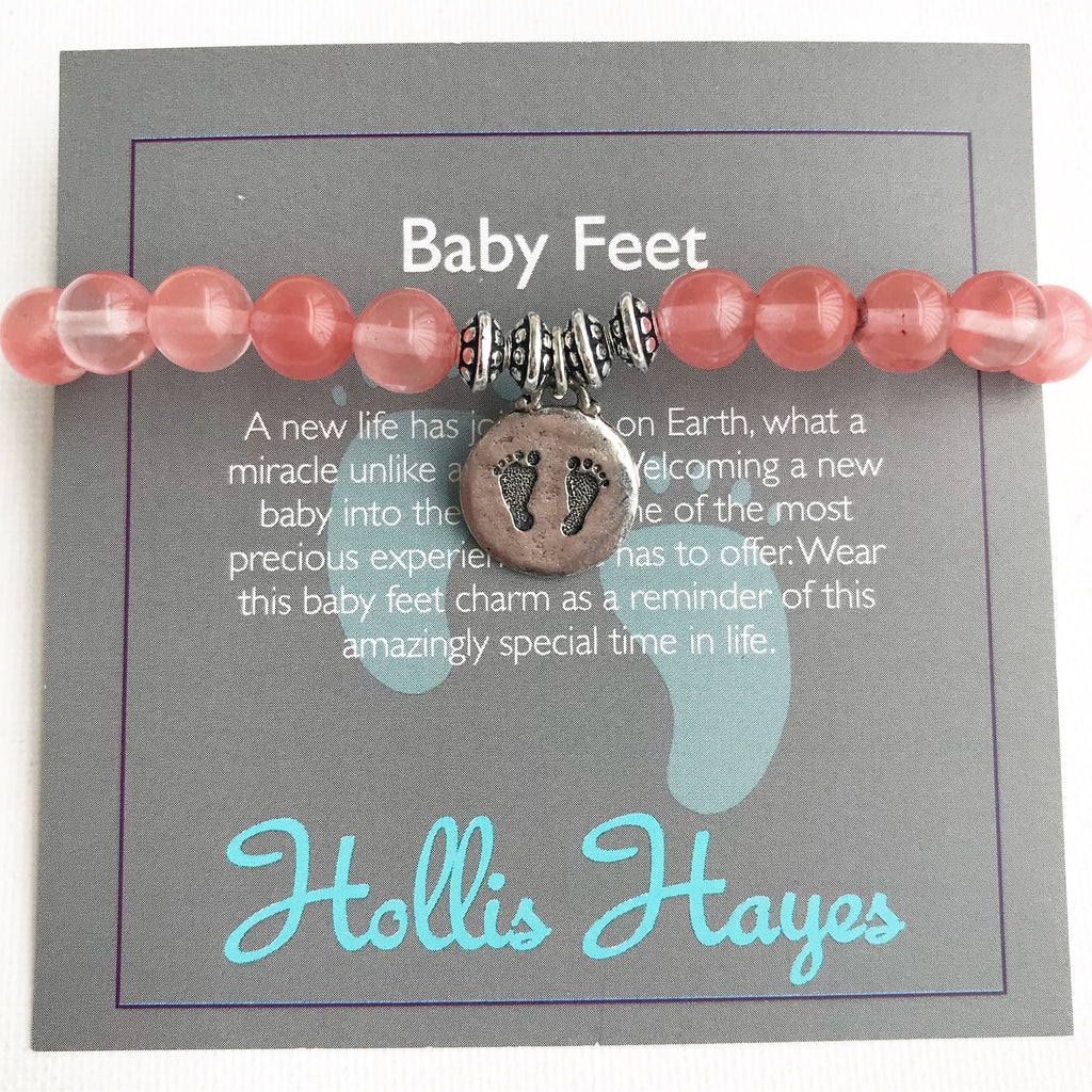Baby Feet - Cherry Quartz