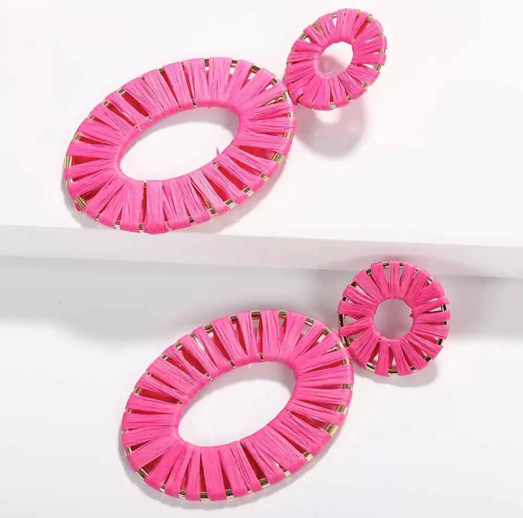 Summer Pink Statement Earrings