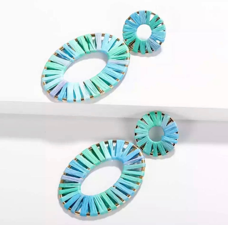 Summer Blues Statement Earrings