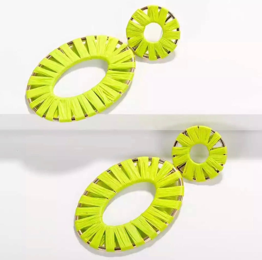 Neon Statment Earrings