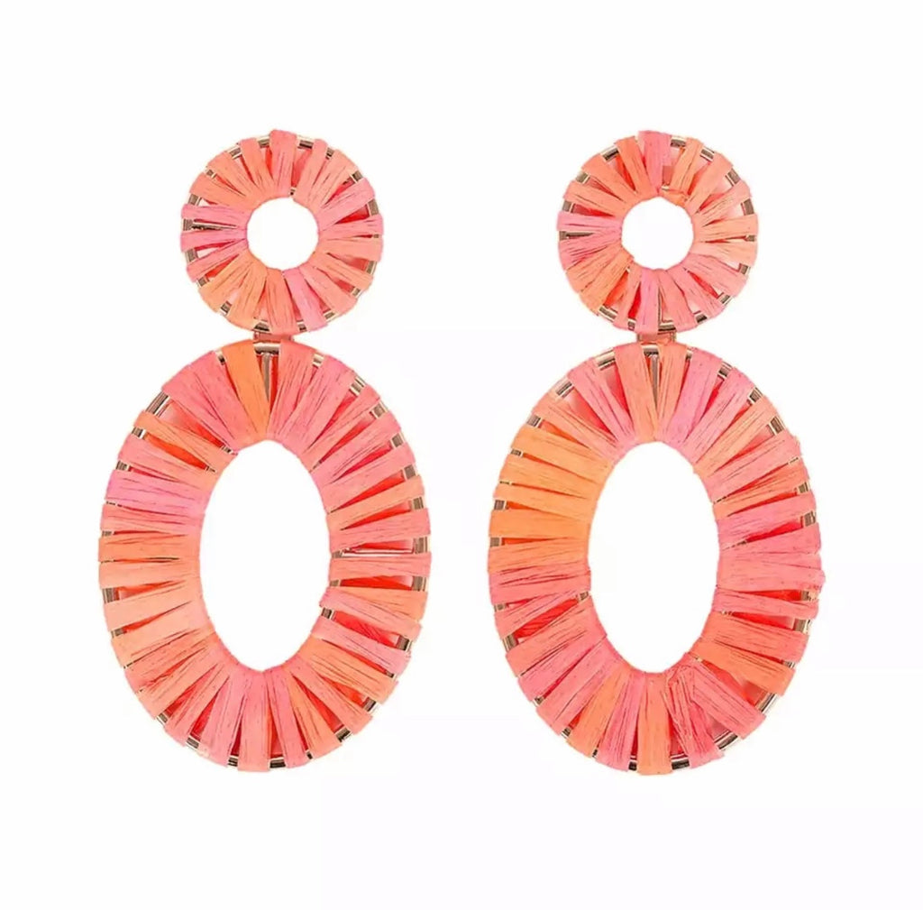 Coral Statment Earrings