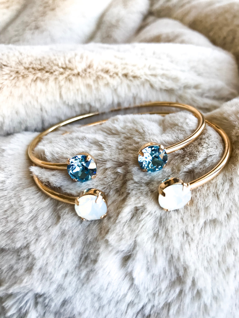 Aquamarine Swarovski Balance Bangle