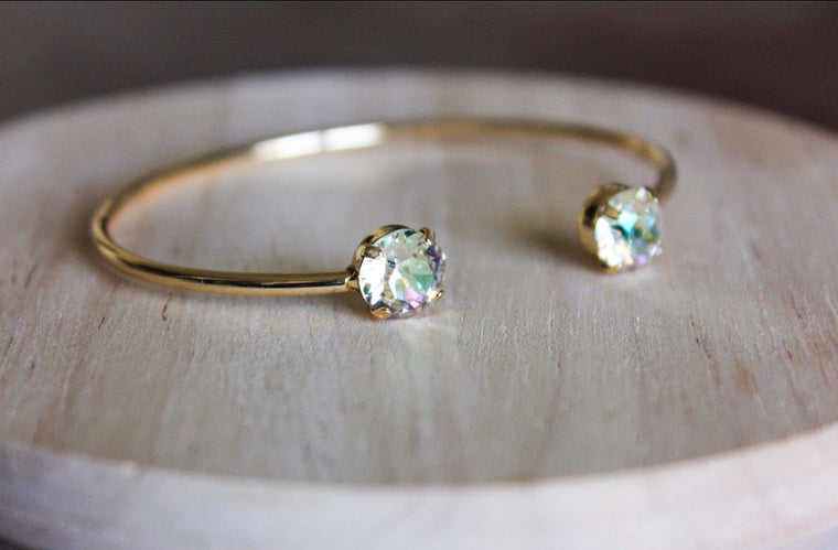 Crushed Golden Crystal Swarovski Balance Bangle