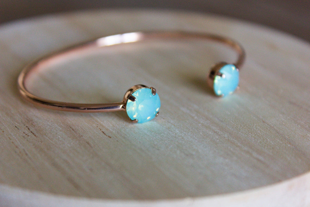 Seafoam Swarovski Balance Bangle